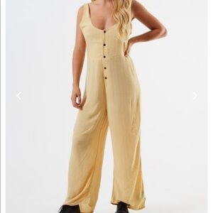 AFENDS yellow playsuit